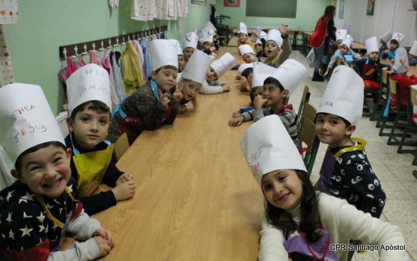Os chefs de 6º de infantil